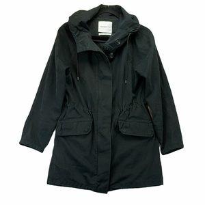 Aritzia Community Anorak Cotton Jacket Black
